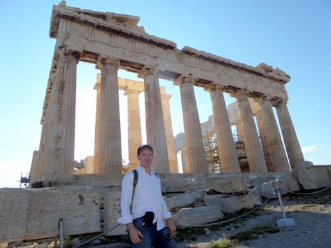 Me in front of the Parthenon