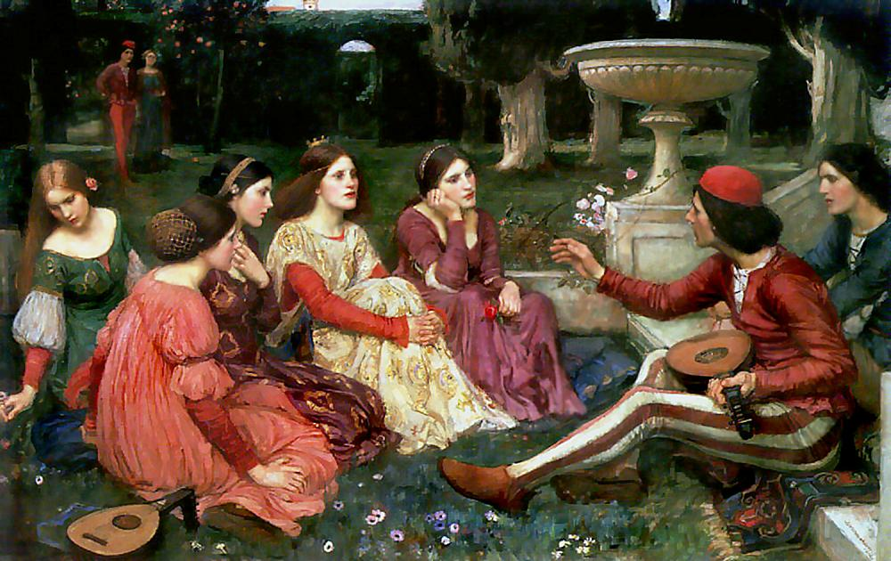 https://upload.wikimedia.org/wikipedia/commons/2/2c/Waterhouse_decameron.jpg