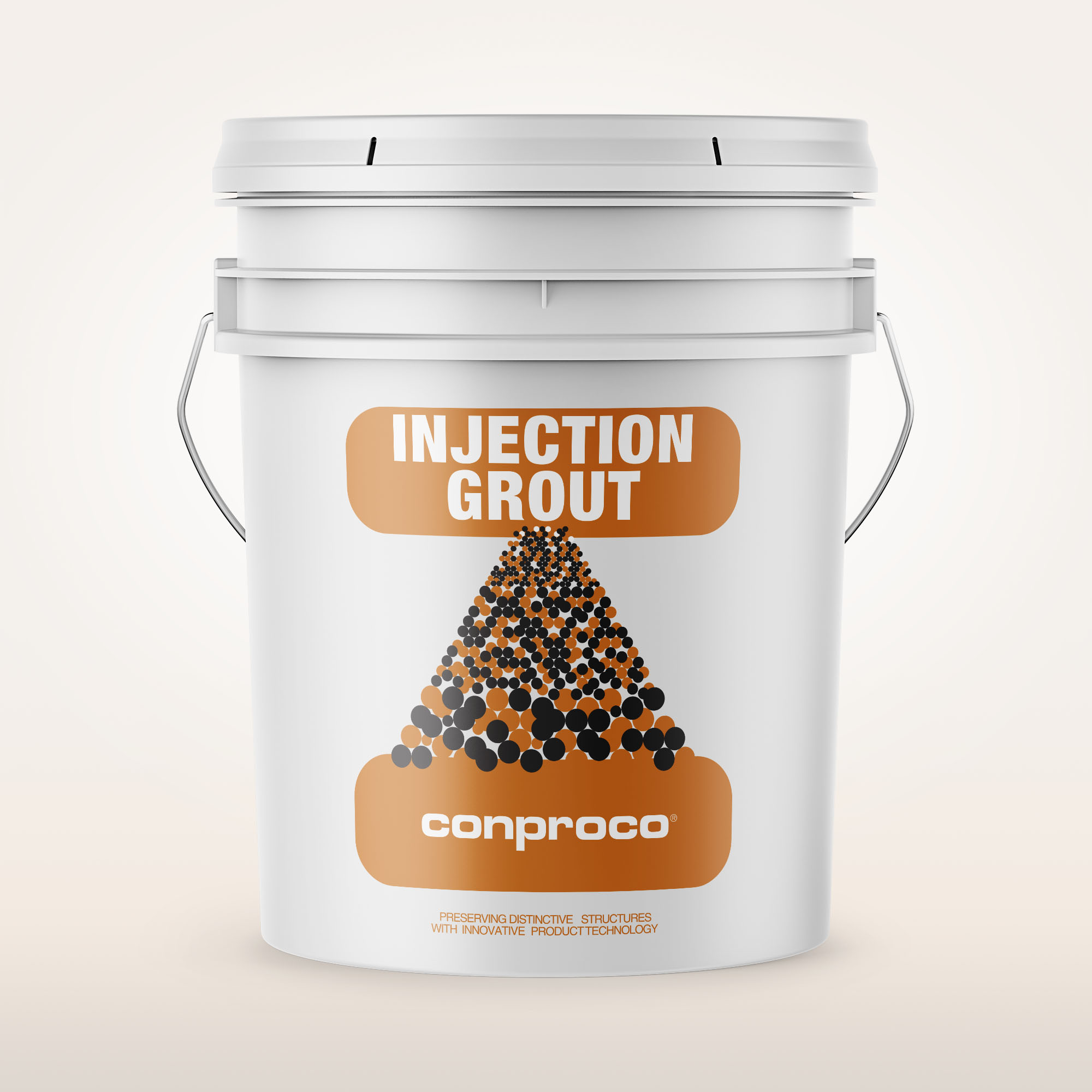 Injection Grout 30 lb pail for repairing cracking in stone
