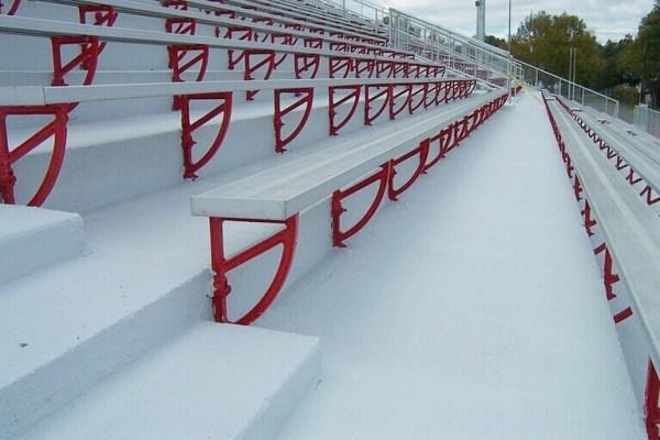 Renewed Concrete stadium.