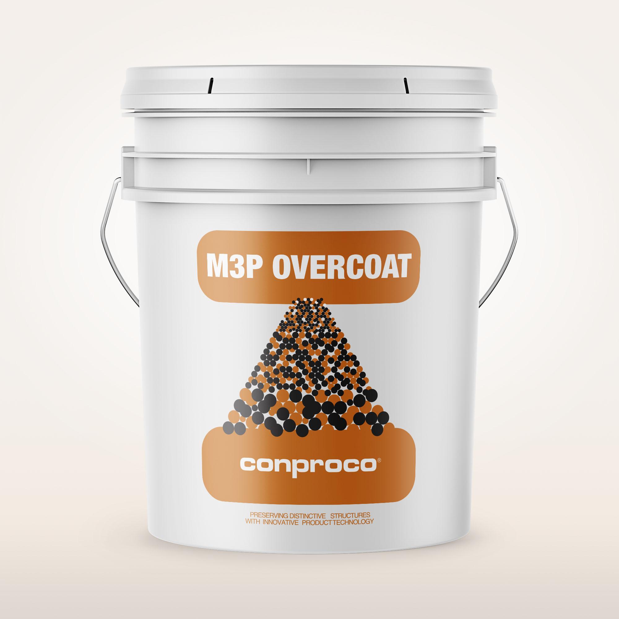 M3P Overcoat 5 gallon pail provides a breathable treatment for buildings
