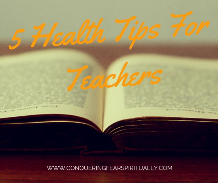 Health tips for teachers