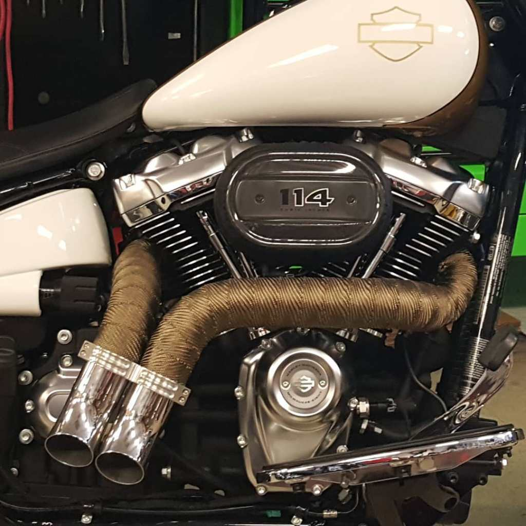Milwaukee Eight Exhaust Pipes Ground Pounders GP Made In The USA Fat Boy Fat Bob Street Glide Road Glide Loud Pipes Harley Davidson HD M8 FXDR