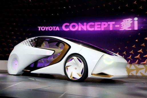 The new Toyota Concept-i concept car, designed to learn about its driver is unveiled during the Toyota press conference at CES in Las Vegas, January 4, 2017.  REUTERS/Rick Wilking
