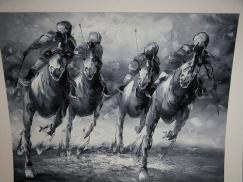 Four horses, four riders.