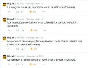 Citas de Albert Einstetein en Twitter