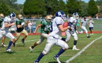 Football team in practice