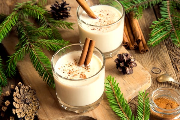 holiday stress eggnog scene