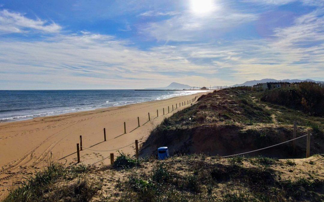 Disfrutar de la playa de Oliva en Apartamentos Albornés