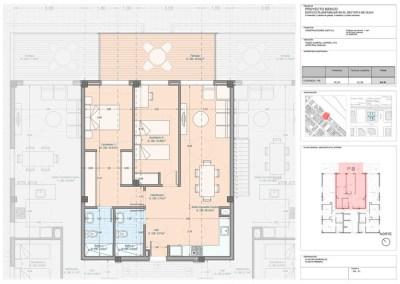 Apartamento 1-B 2 dor.
