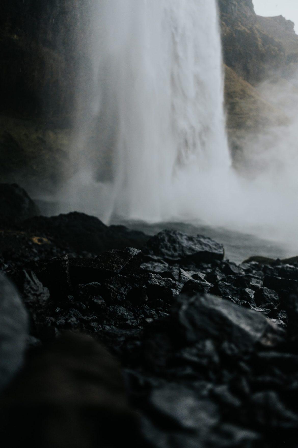 Waterfall on rocks