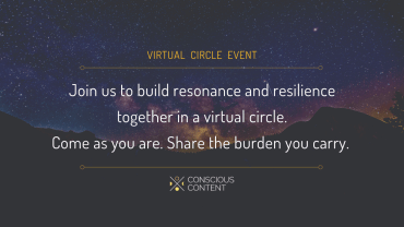 Starry night sky among mountains | virtual circle event building resonance and resilience | Content
