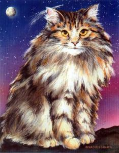 Comet Kitty painting by Wendy Christensen