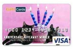 Anniversary Visa card