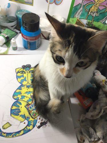 cat-painting