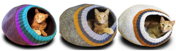 felted-wool-cat-caves
