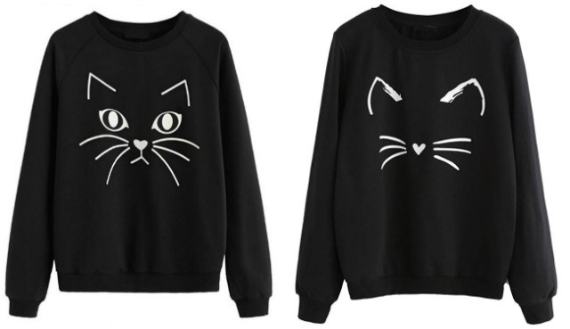 black-cat-sweatshirts