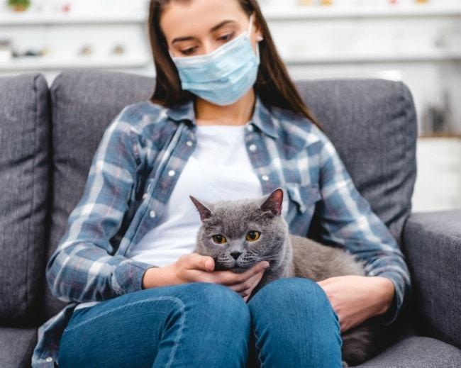 woman-mask-cat-covid