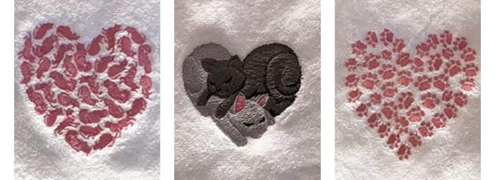 cat-heart-towels