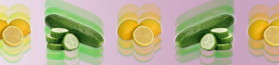 Cucumber and lemon vegan ingredients