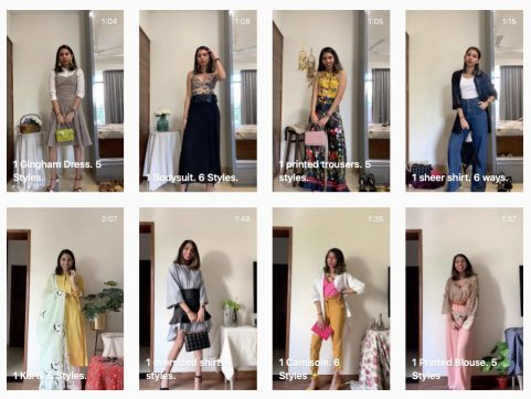 Conscious styling with Stuti. Snapshot of her IGTV channel