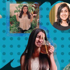 5 Indian zero-waste influencers. (L-R) Mrudula, Mehndi, Saniya, Nayana and Pankti