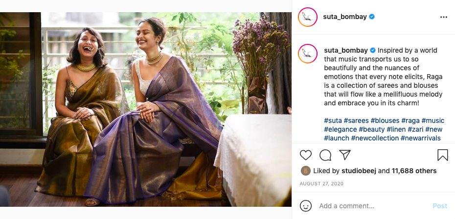 Festive look for her: Sarees by Suta Bombay