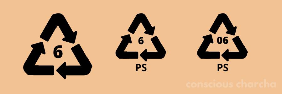 Number 6 PS Plastic