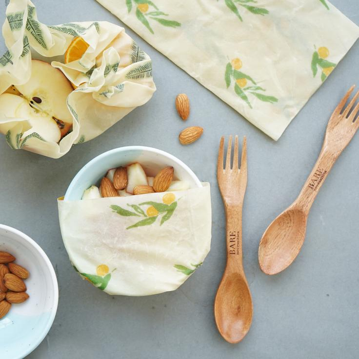 Beeswax plastic-free kitchen food wrap by bare necessities