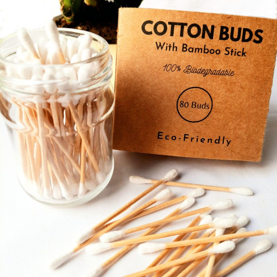 Bamboo cotton earbuds by The Enable Nature