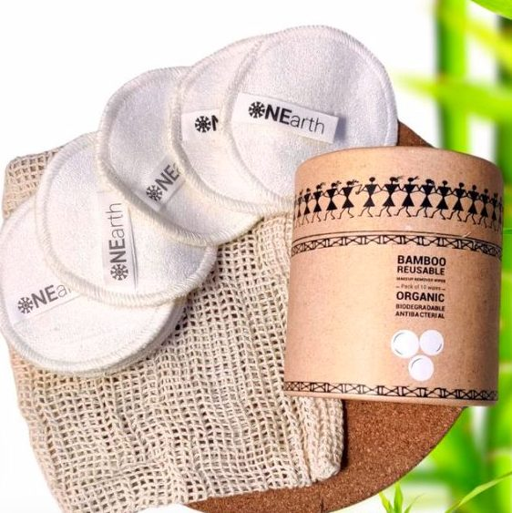 Bamboo reusable makeup remover wipes by My OnEarth