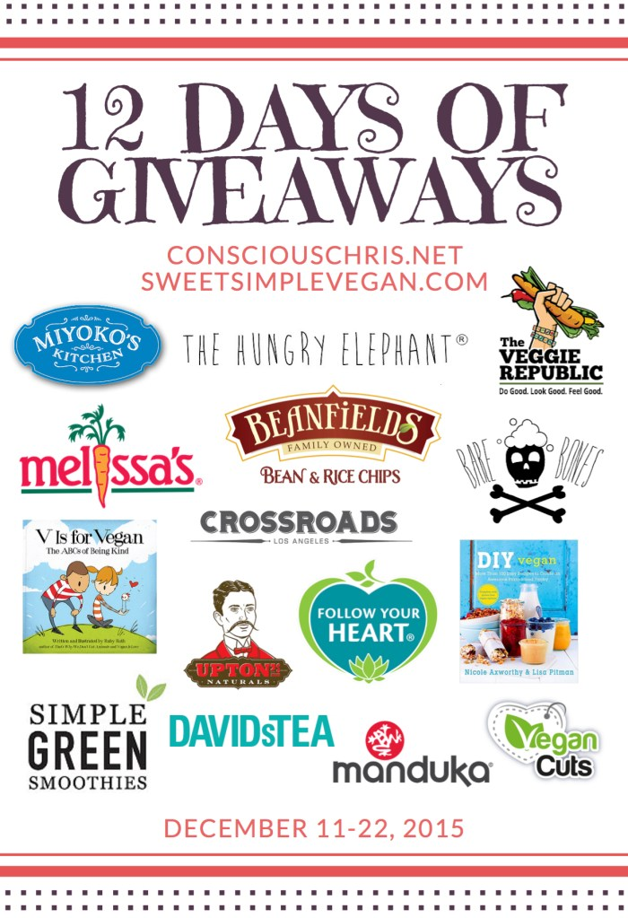 12 Days Of Giveaways // consciouschris.net