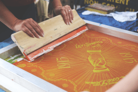 Screenprinting with Levi's