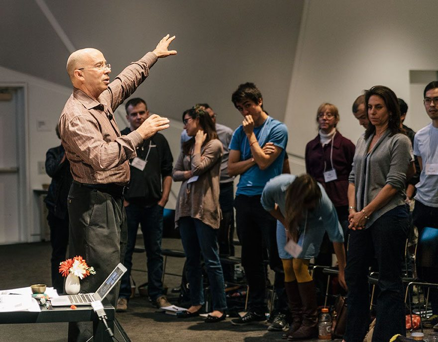 Marc Lesser leads a group at a Search Inside Yourself Leadership Institute workshop.