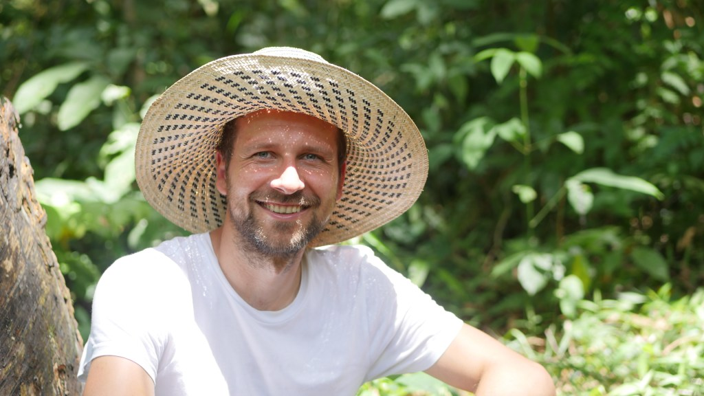 Ecosia's found Christian Kroll visiting one of the company's tree-planting site in Borneo.