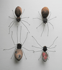 Spiders made with Vintage Embroidery