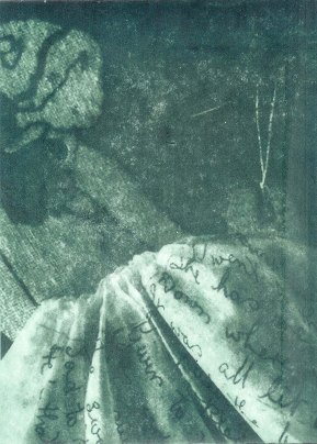 Vicky Russell 'The Other' 2014. Photopolymer Etching on wet strength paper