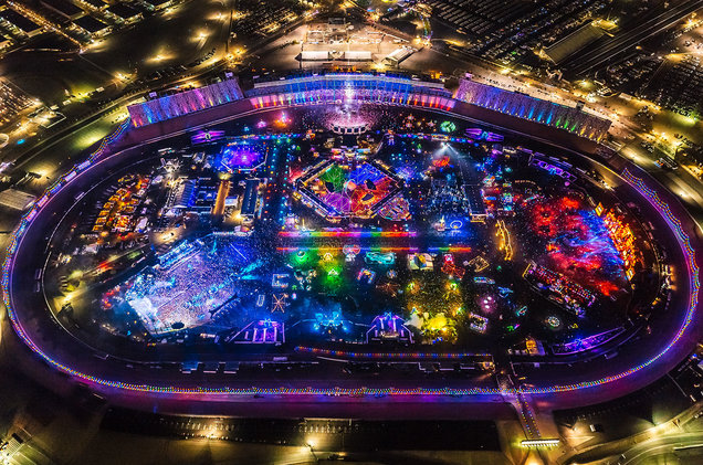 EDC Las Vegas 2019 aerial shot