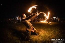 Fire spinner. Resonance 2019. Photo: Aaron Bradley.