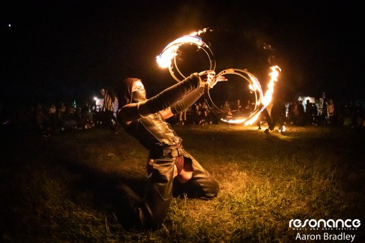 Fire spinner. Resonance 2019. Photo: Aaron Bradley.