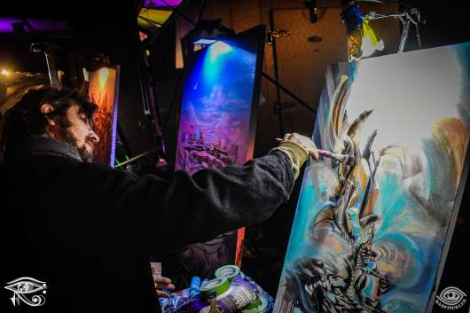 Live painters, Gem & Jam Festival 2019.