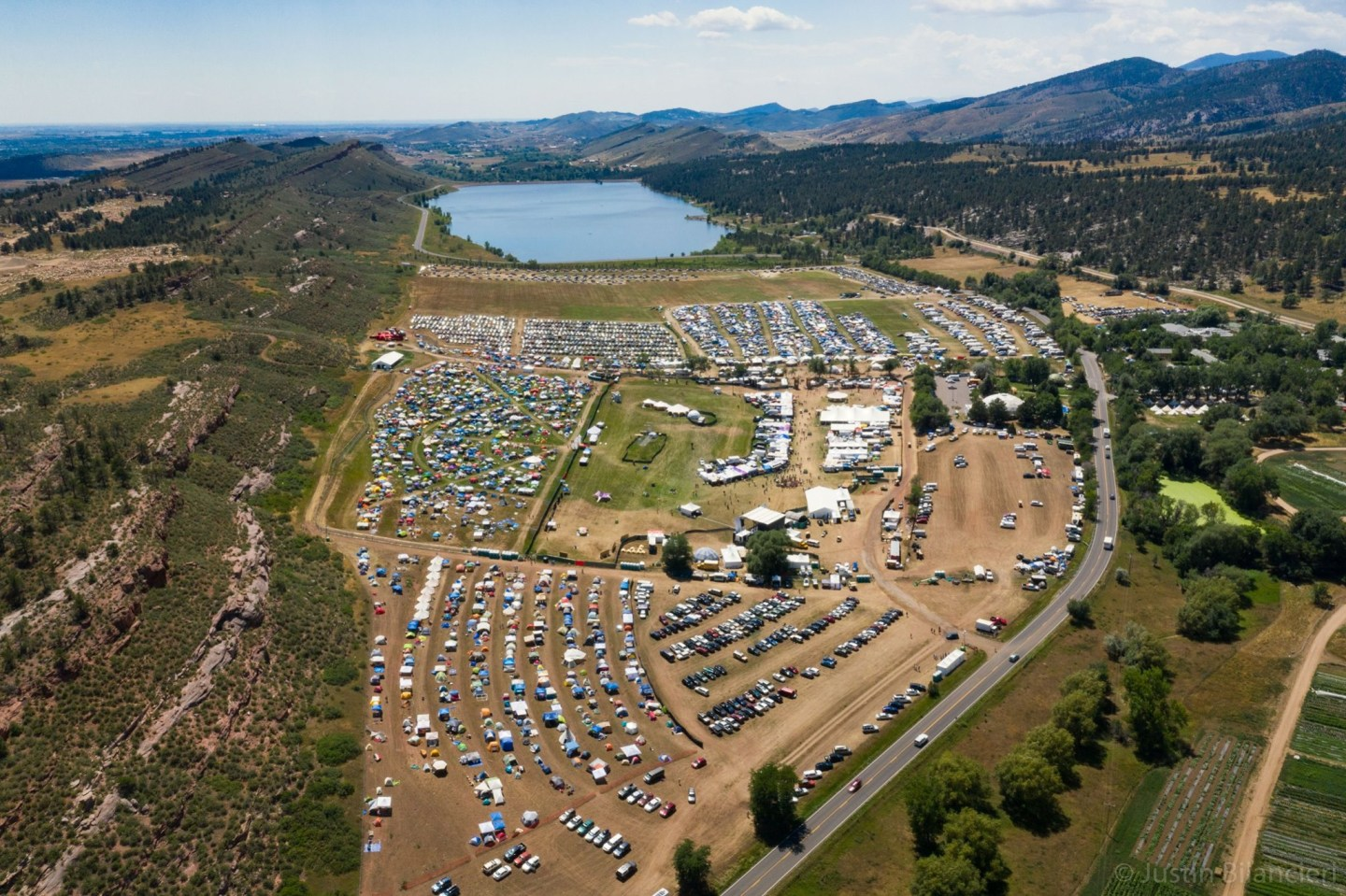 Aerial view of Arise Music Festival - Larimer County, Colorado