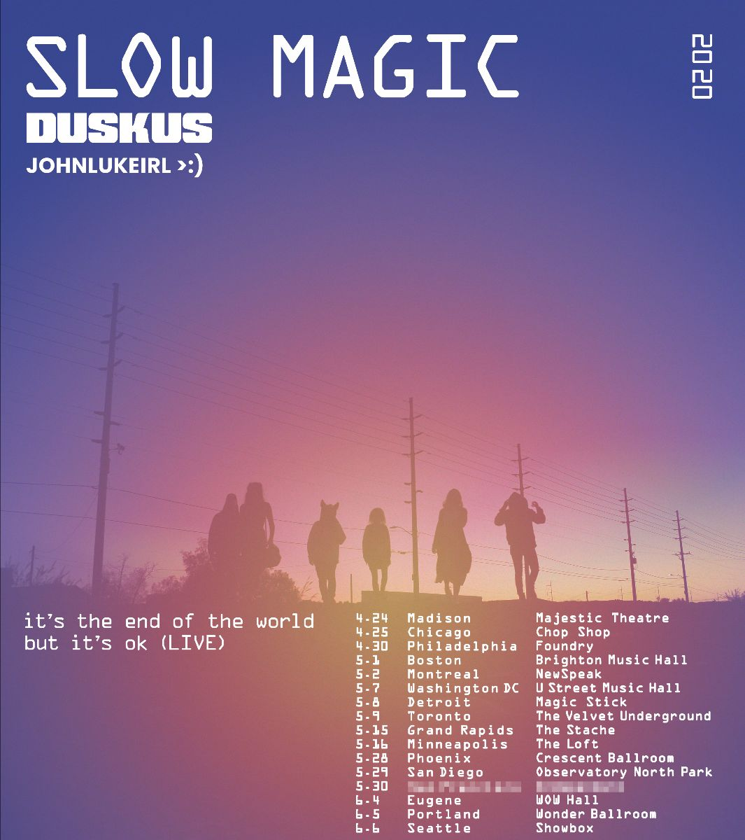 Slow Magic announces it's the end of the world but it's ok North American tour