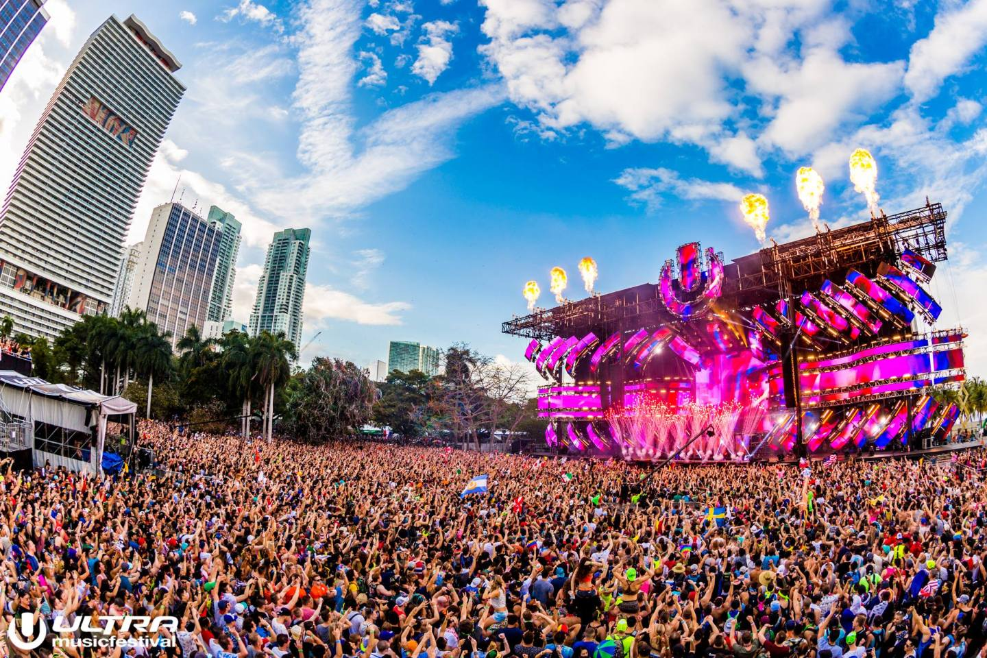 Ultra Music Festival main stage crowd view - Bayfront Park Downtown Miami