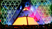 Daft Punk plays the Sahara Tent at Coachella 2012.
