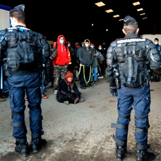Illegal NYE warehouse rave broken up by French police officers