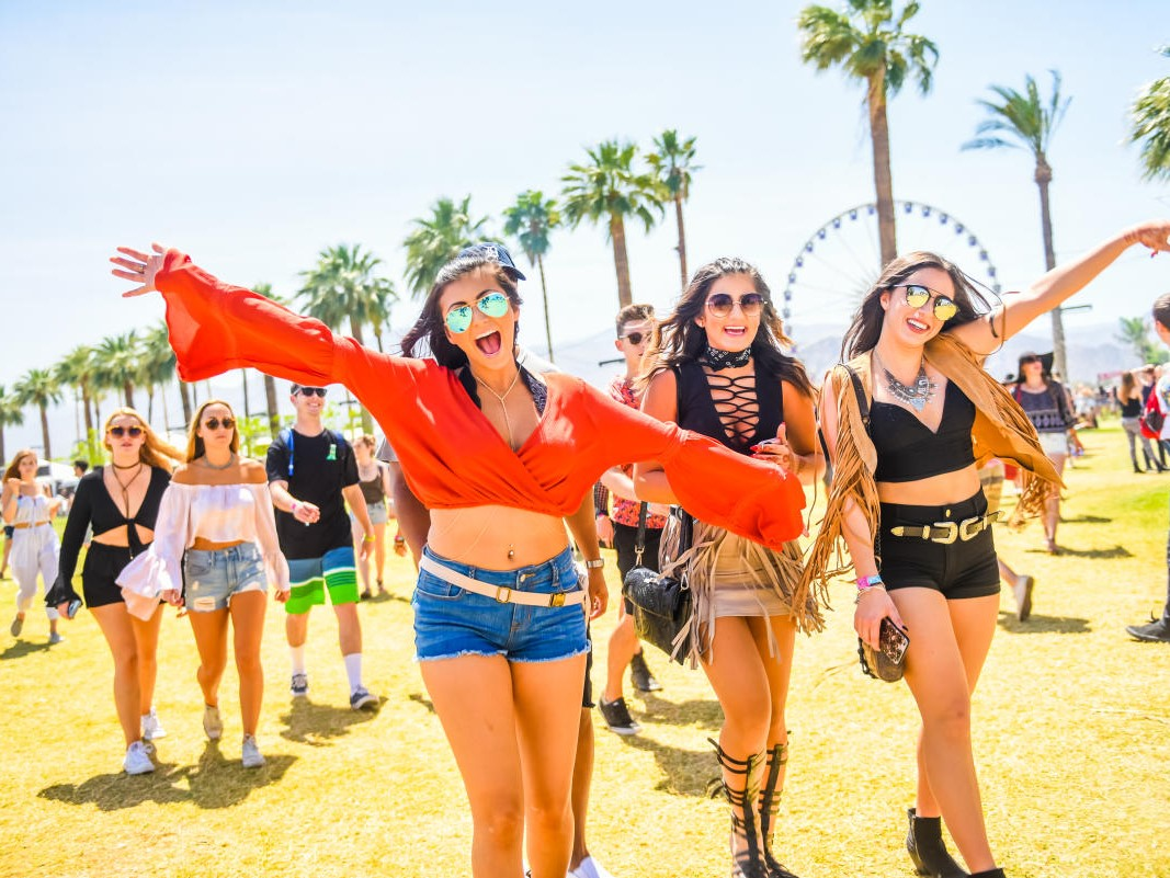 Coachella Music Festival attendees enjoying the day