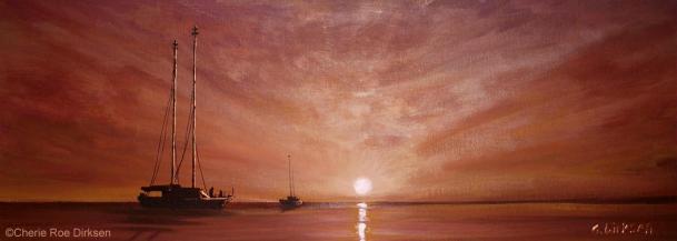 Purple Sunset at Sea by Cherie Roe Dirksen