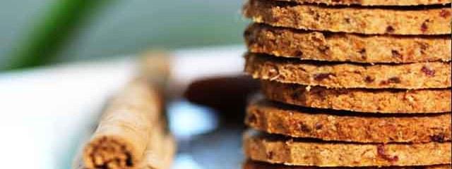 Spicy Spelt Biscuits (sugar-free and vegan)