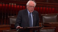 "Sen. Bernie Sanders delivering a speech on the Senate floor on Monday, December 15, 2014. ""'Despite what you may hear from some politicians or pundits on TV,' Sanders said, 'Social Security is not going broke.' (Photo: screenshot)"